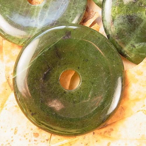 Nephrit Donut Anhänger 50-60mm A BIG A