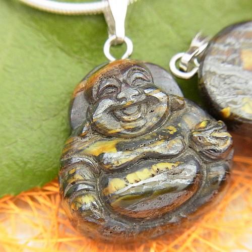 Eisenjaspis Buddha Anhänger Klein