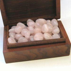 Rosenquarz Trommelsteine 1kg Kleine Edelsteine Indien 8/13mm Großhandel