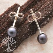 Pearls Earjewellery black 5 mm