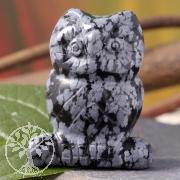 Eule aus Schnee Obsidian ca. 40mm