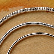 Silberkette sehr lange Schlangenkette 925 80cm 1,6mm