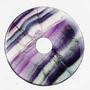 Fluorite Donut A-Quality Pendant 35mm A+