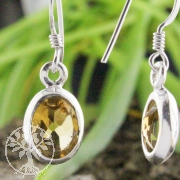 Ear Pendant oval Citrine faceted