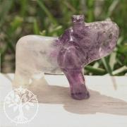 Fluorit Elefantenfigur aus Stein