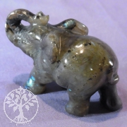 Steinfigur Labradorit Elefant 84