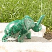 Elefant Malachit Steinfigur 006