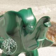 Elefant Malachit Steinfigur 008