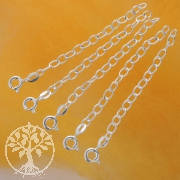 Silver chain for necklace extension