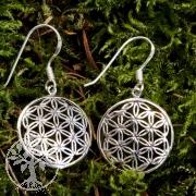 Silber Ohrhänger Blume des Lebens