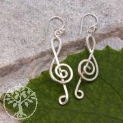 Violinschlüssel Ohrhänger