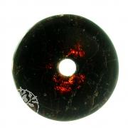 Granat Donut Edelstein Anhänger - Unikat 007 Roter Pirat