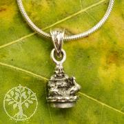 Luck Buddha pendant silver