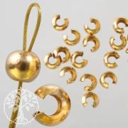 Kaschierperlen offen goldfilled 4mm