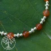 Carnelian Bracelet Mandarina Sterling Silver