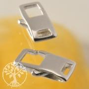 Rechteck Verschluss Quadrat Kettenverschluss .925 er Silber