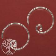 Ohrhaken Kreis echt Silber 925 Ohrringe Schmuckzubehör
