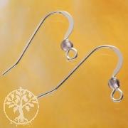 Earhook with Amethystbead Silver