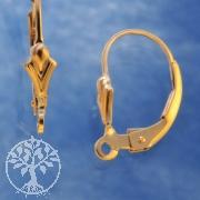 Brisur Gold mit Ring Lilie, Goldfilled 14K 1/20
