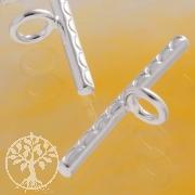Stab zum Knebelverschluß Welle 1.8x 21mm Silber 925