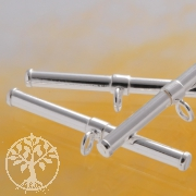 Stab zum Knebelverschluss 24x2mm Silber 925