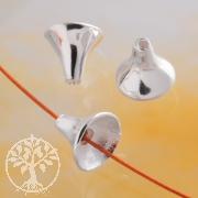 Perlenkappe Trichter 7mm 925er Silber