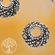 Bead Caps Silver Marcasite Sterlingsilver