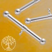 Stab zum Knebelverschluss Perle 24x2mm Silber 925
