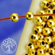 Gold Crimp Bead 2,5mm Shiny Gold Filled 14K 1/20Ham.