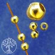 Gold Bead 3mm Shiny Gold Filled 14K 1/20Ham.