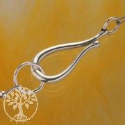 Design Haken Verschluss, Sterling Silber 925 Großer 33mm Silberverschluss