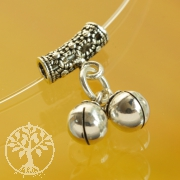 Silver Bead with Bell Charms