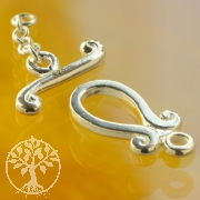 Toggle Clasp Ornament Silver 925
