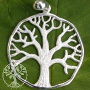 Lebensbaum matt hell Weltenbaum Anhänger 925er Silber