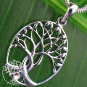 Baum des Lebens verschlungen Silberanhänger Sterling 925