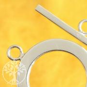 Stegverschluss 32mm Stab 25mm Ring Silber 925 Schwer + Groß
