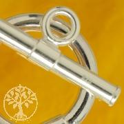 Knebelverschluss Riese 26mm Ring 35mm Stab Silber 925