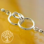 Hakenverschluss Ring zum Einhängen 12mm 925 Silber