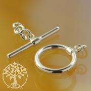 Knebelverschluss Lillyput 13mm Ring 18mm Stab Silber 925