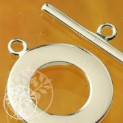 Knebelverschluss glänzend 20mm Ring 25mm Stab Silber 925