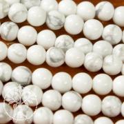 Magnesite mini ball beads strand 5-6 mm