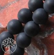 Obsidian Kugelperlen 8mm Matt 40cm Obsidianperlen Strang