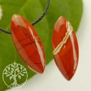 Roter Jaspis Edelstein Anhänger biconvex