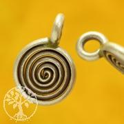 Mini Spirale Sterlingsilber 925 Anhänger