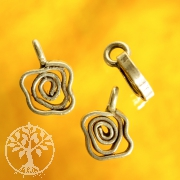 Flowery spiral sterling silver pendant 925