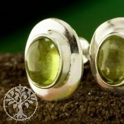 Peridot Ohrstecker mit Silberrahmen Silber 925