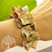 Armband Trompeten Muschel Muschelarmband für zartes Handgelenk