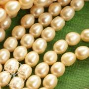 Zuchtperlen Rosa Perlen oval 8mm/40cm Strang Natur