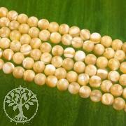 Perlmutt Schmuckperlen braune Natur Perlen aus Perlmutt 4mm/40cm
