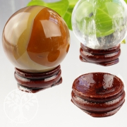 Decorative ball wooden stand